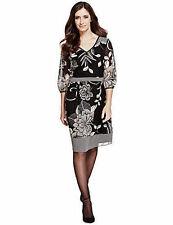 Per Una V-Neck 3/4 Sleeve Regular Size Dresses for Women