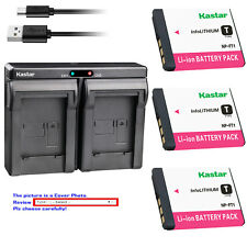 Kastar Battery Dual Charger for Sony NP-FT1 FT1 & Sony Cyber-shot DSC-T5 Camera