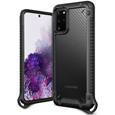 For Galaxy S20 Plus Case VRS® [Crystal Mixx Pro] Carbon Pattern Clear Cover