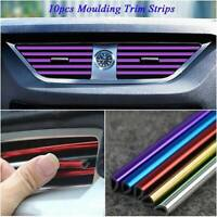 10x Car Auto Air Conditioner Air Outlet Accessories Decor Colorful Strip Kits
