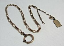 """Fabulous Vintage Heavy Gold Filled Watch Fob Chain w/ Dangle Charm 17"""""""
