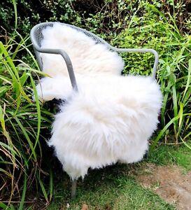 XXXL A+++ Genuine Fluffy Pelt British Cream Sheepskin Rug - 120cm by 75cm (2984)