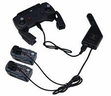 DJI Spark voiture Chargeur Adaptateur pour 2 batterie et 1 Remote Contrôleur de charge USB