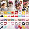 Kid Baby Girl Toddler Ribbon Headband Bow Knot Headwear Hair Band Soft Headwrap