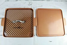 """New listing Copper Chef 12"""" Grill Nonstick Steak Griddle Kitchen Cookware Stove and Flat Lid"""