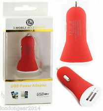 New 2.1amp Dual Usb Car Charger Adapter For Iphone,Ipad,Ipod,Samsung,LG,HTC,Red