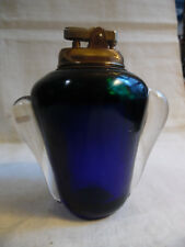 Vintage Murano Glass Table Lighter Blue Green Clear (B4)