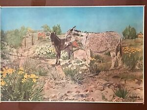 "RAY EYERLY Eastern Oregon Artist Print ""QUIET MOM'S SLEEP'EN""  Date 11-18-78"