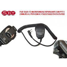 PJD-3605F3 MICROFONO/ALTOPARLANTE CON PTT E CONN.RE A L PER ICOM IC-F3022/3002/3