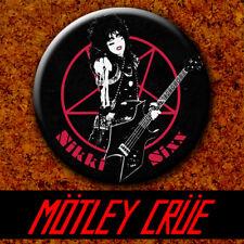 Motley Crue - Nikki Sixx 1983 Badge Button Chapa Pin 38mm