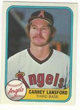 CALIFORNIA ANGELS 1981 Fleer PICK 3 NM-MT MLB TANANA GRICH FREGOSI LANSFORD +