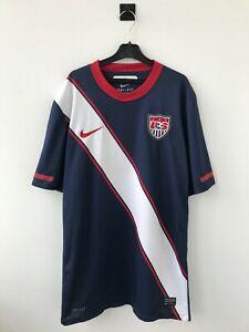 USA NATIONAL TEAM 2010/2012 AWAY FOOTBALL SOCCER SHIRT JERSEY CAMISETA NIKE