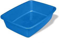 Cat Litter Pan Medium Size Pet Blue Color Poop Clean Easy Kitty Box Kitten