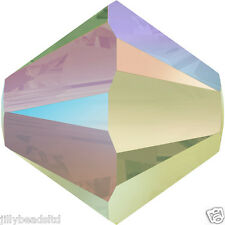 Swarovski 5328 Xilion Bicone Beads  6mm : Crystal Paradise Shine (20 beads)