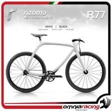 Rizoma R77 MetropolitanBike Bicicletta Telaio Bianco Carbonio + Ruote Nere