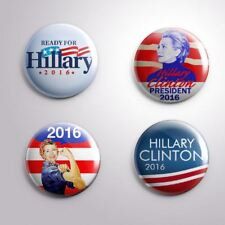 4 HILLARY CLINTON 2016 PRESIDENTIAL ELECTIONS - Pinbacks Badge Button 25mm 1''