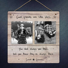 PERSONALISED PHOTO FRIENDSHIP QUOTE CUSTOM PLAQUE METAL SIGN BEST FRIEND GIFT
