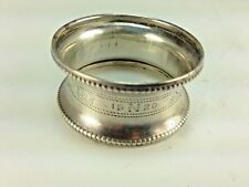 Antique 1903 Henry Williams & Co  Birmingham England Sterling Silver Napkin Ring