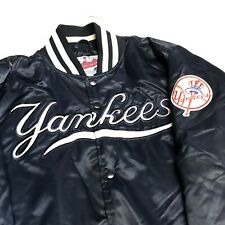New York Yankees Satin Jacket Adult L Blue MLB Baseball Starter USA