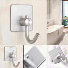 Stainless Steel Wall Hook Self Adhesive Hanger Door Home Kitchen Bathroom Towel