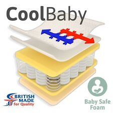 CoolBaby Pocket Sprung Cot Bed Mattress - CoolMax - 139cm x 69cm x 10cm
