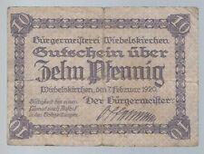 Notgeld - Wiebelskirchen - Bürgermeisterei - 10 Pfennig - 1920 - selten !!!
