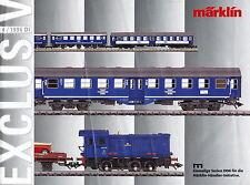 Märklin Exclusiv 4 96 1996 prospetto catalog MARKLIN MODEL RAILWAYS prospectus