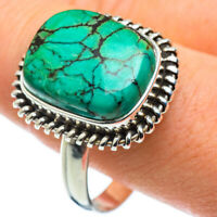 Tibetan Turquoise 925 Sterling Silver Ring Size 13.5 Ana Co Jewelry R48544F