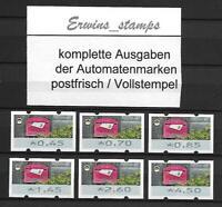 ATM 2017 Bund 2017 AUTOMATENMARKEN SATZ 9 postfrisch / Vollstempel