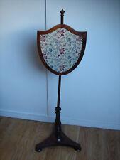 Regency Rosewood Pole Screen circa 1820 Sheild shape screen tripod base