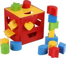 Play22 Baby Blocks Shape Sorter Toy - Childrens Blocks Includes 18 Shapes - Colo