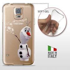 Samsung Galaxy S5 TPU CASE COVER PROTETTIVA GEL TRASPARENTE Disney Frozen Olaf