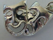 925 sterling silver Comedy  & Tragedy Double Mask  Cufflinks MADE IN ENGLAND