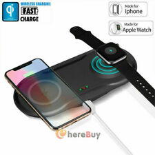 Qi Wireless Charger Dock for Apple Watch iWatch Charging Pad iPhone 11 X Xs Max