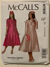 Vintage 50's McCall M7806  Misses' Dresses 14 - 22