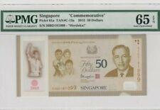 2015 SINGAPORE $50 'COMMEMORATIVE' PMG65 EPQ GEM UNC  [P-61a]