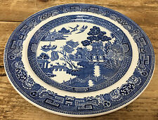 1 Salad Plate Wedgwood England Blue Willow Smooth 114716 Classic Asain Landscape