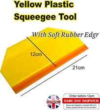 Yellow Plastic Squeegee Tool  Soft Rubber Edge for Car Wrapping Vinyl