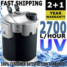 Aqua One Nautilus External Aquarium Fish Tank Canister Filter 2700 + 5W UV