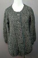 H&M Women's Size S Gray Alpaca Wool Blend Cardigan Sweater Loose Knit