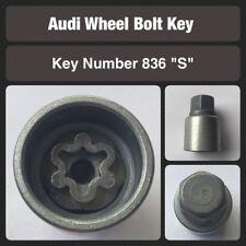 original Audi Tornillo de fijación la rueda / Llave para Tuerca 836. estampado S