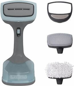 BLACK+DECKER Advanced Handheld Garment / Fabric Steamer with 3 Attachments, Gray