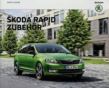 Prospekt Škoda Rapid Zubehör 9/15 Autoprospekt 2015 Broschüre brochure Skoda PKW
