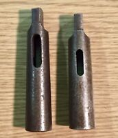 Collis Drill Sleeve Set of 2 Sleeves Morse Taper 3-2 and 3-1 Use-Em-Up Used USA