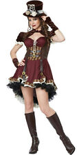 Women's Steampunk Girl Adult Costume Size Large 10-12