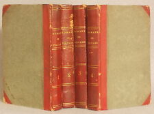 1794 ROMANS ET CONTES DE VOLTAIRE 4 Ensemble de Volumes CUIR LIE leather set