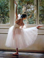 Wall Decor Print Beautiful Ballet Dancer Oil painting Art Printed on Canvas P171