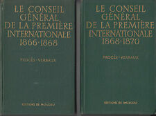 LE CONSEIL GENERAL DE LA PREMIERE INTERNATIONALE - PROCES VERBAUX (4 volumes)