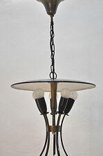 RARE en laiton lampe à SUSPENSION Hagenauer ans ère