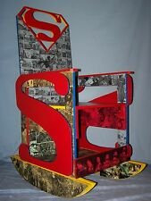 Superman Rocking Chair, Hand Crafted and Painted! ONE OF A KIND